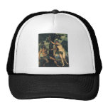 The Fall of Man; Adam and Eve by Titian Trucker Hat