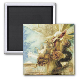 The Fall of Phaethon (w/c on paper) 2 Inch Square Magnet