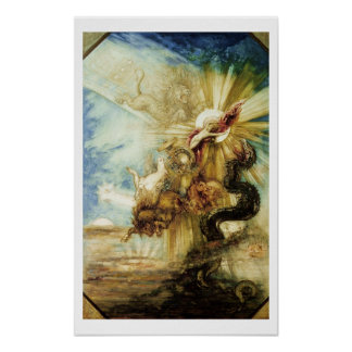 The Fall of Phaethon (w/c on paper) Poster