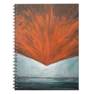 The Fall of Phoenix Bird (abstract surrealism) Spiral Note Books