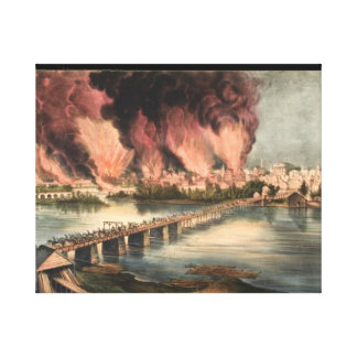 The Fall of Richmond, Virginia, Wrapped Canvas