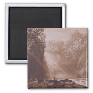 The Fall of the Clyde, engraved by Charles Turner 2 Inch Square Magnet