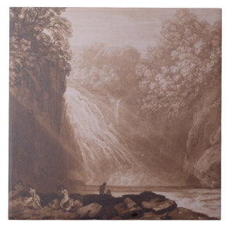 The Fall of the Clyde, engraved by Charles Turner Ceramic Tile