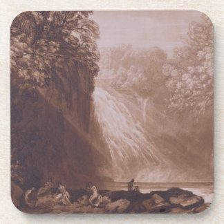 The Fall of the Clyde, engraved by Charles Turner Drink Coaster