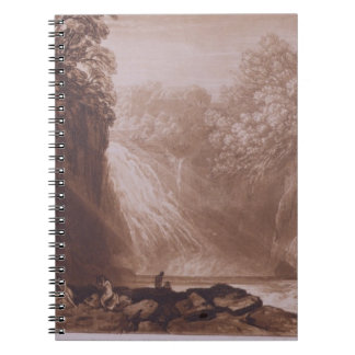 The Fall of the Clyde, engraved by Charles Turner Notebook