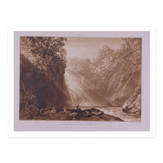 The Fall of the Clyde, engraved by Charles Turner Postcard