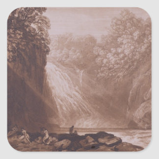 The Fall of the Clyde, engraved by Charles Turner Square Sticker