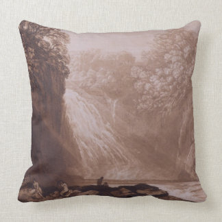 The Fall of the Clyde, engraved by Charles Turner Throw Pillow