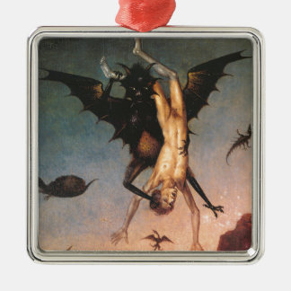The Fall of the Damned. Dirik Bouts the Elder Square Metal Christmas Ornament