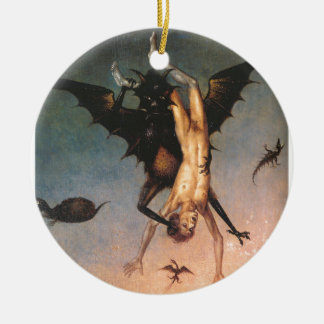 The Fall of the Damned. Dirik Bouts the Elder Double-Sided Ceramic Round Christmas Ornament