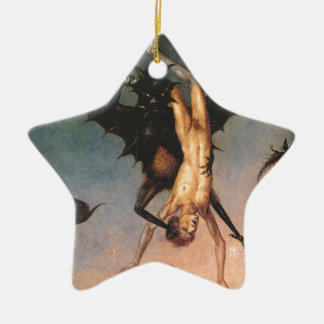 The Fall of the Damned. Dirik Bouts the Elder Double-Sided Star Ceramic Christmas Ornament