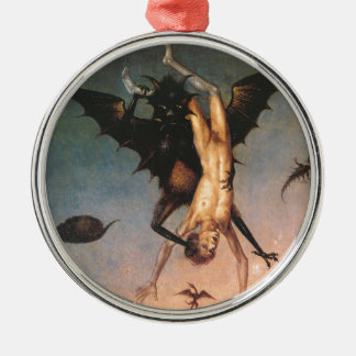 The Fall of the Damned. Dirik Bouts the Elder Round Metal Christmas Ornament