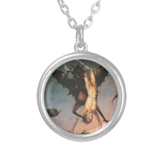 The Fall of the Damned. Dirik Bouts the Elder Round Pendant Necklace