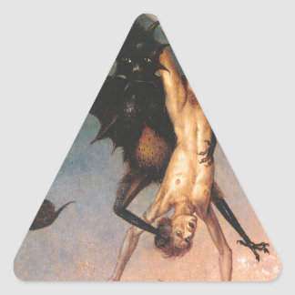 The Fall of the Damned. Dirik Bouts the Elder Triangle Sticker