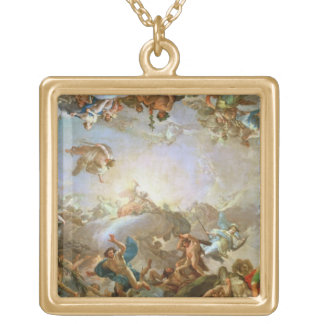 The Fall of the Giants besieging Olympus, 1764 (oi Gold Plated Necklace
