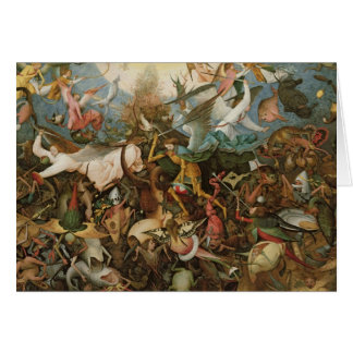The Fall of the Rebel Angels, 1562 Greeting Cards