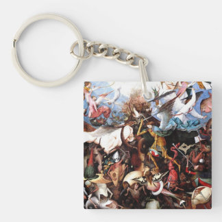 The Fall Of The Rebel Angels (1562) Double-Sided Square Acrylic Keychain