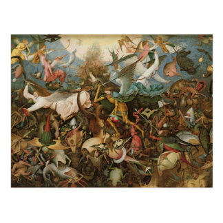 The Fall of the Rebel Angels, 1562 Postcard
