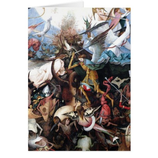 The Fall of the Rebel Angels by Pieter Bruegel Greeting Card
