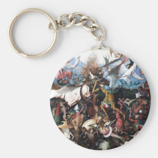 The Fall of the Rebel Angels by Pieter Bruegel Keychains