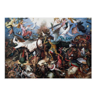 The Fall of the Rebel Angels by Pieter Bruegel Poster