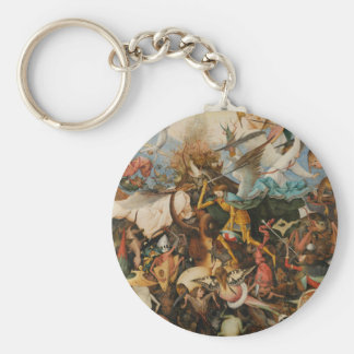 The Fall of the Rebel Angels - Pieter Bruegel 1562 Basic Round Button Keychain