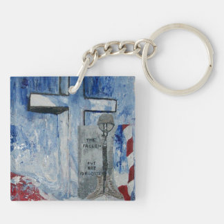 The Fallen, But NEVER Forgtten. Double-Sided Square Acrylic Keychain