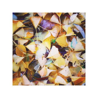 The fallen leaves and fall canvas print
