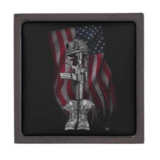 "The Fallen Soldier -Premium Keepsakes Case 3"" x 3"" Jewelry Box"