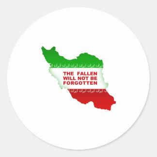 The fallen will not be forgotten classic round sticker