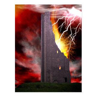 The Falling Tower Tarot Card Art Post Cards