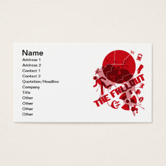THE_FALLOUT BUSINESS CARD
