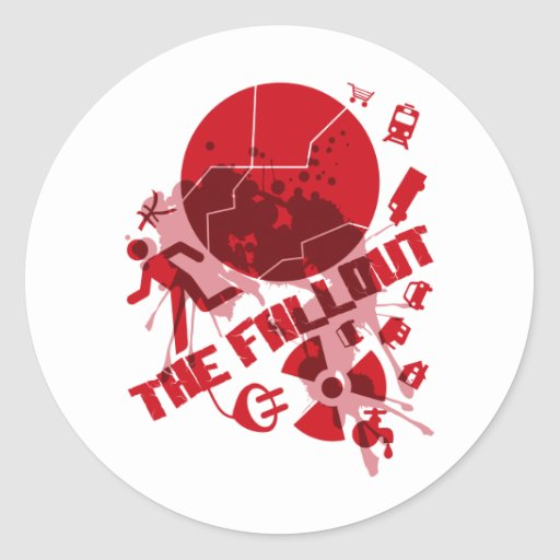 THE_FALLOUT CLASSIC ROUND STICKER