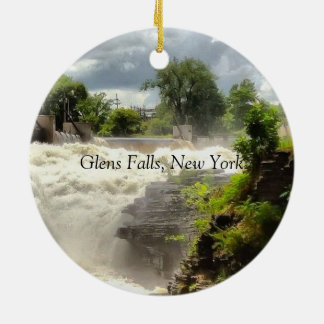 The Falls at Glens Falls Ceramic Ornament