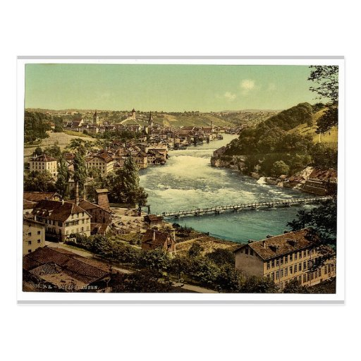 The Falls of the Rhine, general view, Schaffhausen Postcard