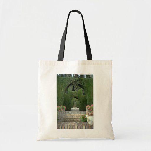 The famed gardens of the Alhambra, Granada, Spain Canvas Bags