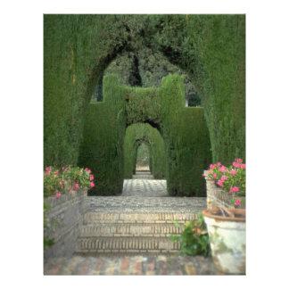 The famed gardens of the Alhambra, Granada, Spain Flyer