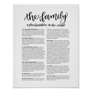 The Family: A Proclamation to the World Poster