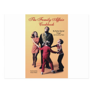 The Family Affair Cookbook Postcard