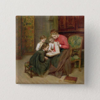 The Family Album, 1869 (oil on canvas) Button