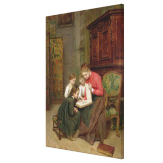 The Family Album, 1869 (oil on canvas) Canvas Print