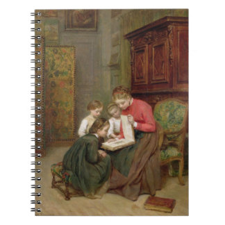 The Family Album, 1869 (oil on canvas) Spiral Notebook