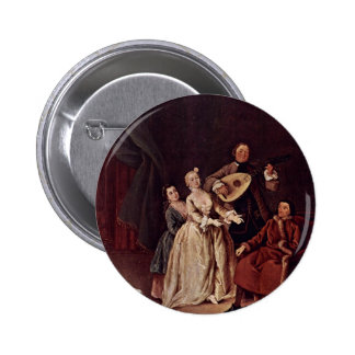 The Family Concert By Longhi Pietro (Best Quality) Pinback Button