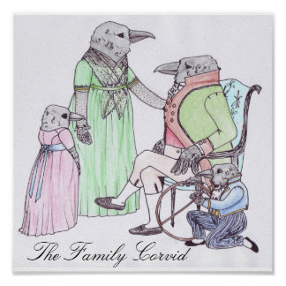The Family Corvid Poster
