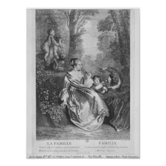 The Family, engraved by Pierre Aveline Poster