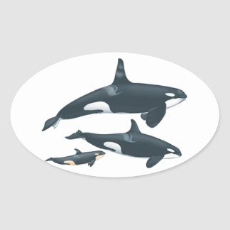 THE FAMILY LOVE OVAL STICKER