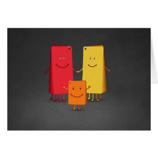 The Family of Colors (3) Greeting Card