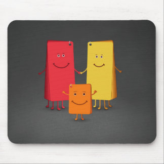 The Family of Colors 3 Mouse Mats