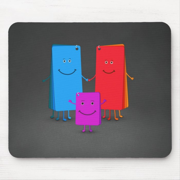 The Family of Colors Mouse Pad