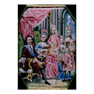 The Family of Emperor Peter I, the Great , 1717 Poster